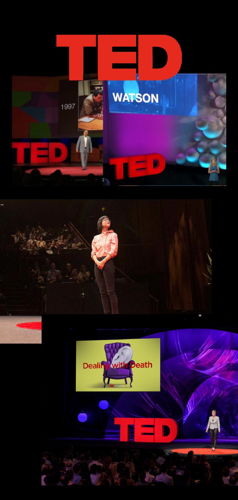 Foto di alcuni talk TEDx nel mondo