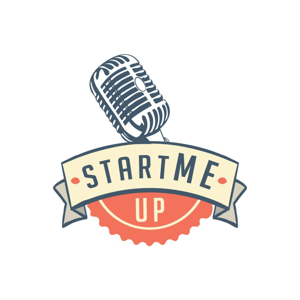 logo podcast startmeup